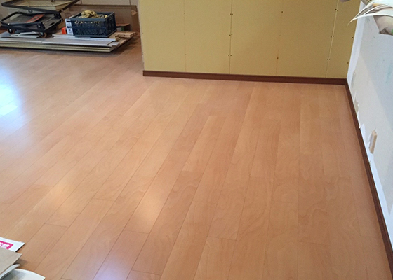 長野市マンションリフォーム施工のようす