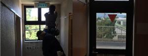 上田市某旅館窓ガラスフィルム施工