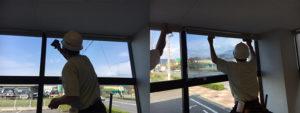 長野市 窓ガラス遮熱フィルム施工
