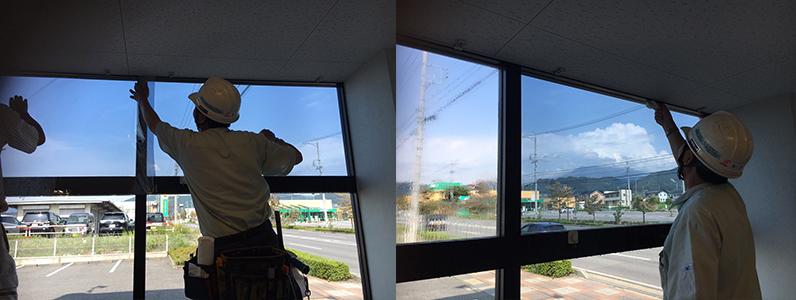 諏訪市 窓ガラスフィルム施工事例